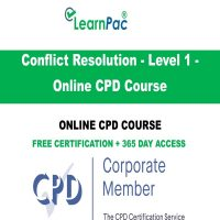 Conflict Resolution - Level 1 - Online CPD Course - LearnPac Online Training Courses UK -