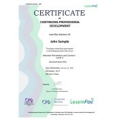 Infection Prevention and Control – Level 2 - Online Training Course - CPD Certified - LearnPac Systems UK -