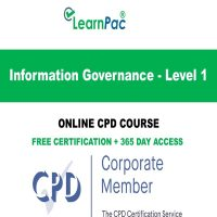 Information Governance - Level 1 - Online CPD Course - LearnPac Online Training Courses UK –