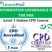 Information Governance Training - Level 1 - Online CPD Training Course - Data Security and Information Governance - Skills for Health Aligned ELearning - LearnPac Systems UK -