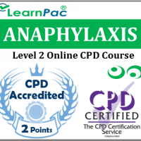 Anaphylaxis Training Course - Level 2 - Online CPD Accredited Course - Anaphylaxis & Epipen Course - Skills for Health UK CSTF Aligned ELearning Course - LearnPac Systems UK -