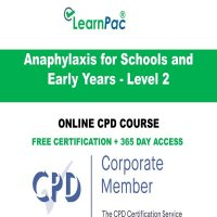 Anaphylaxis for Schools & Early Years - Level 2