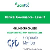 Clinical Governance - Level 3 - Online CPD Course - LearnPac Online Training Courses UK –