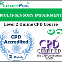 Multi-Sensory Impairment Training - Level 2 - Online CPD Accredited Course - Hearing Impairment & Deaf-Blindness Awareness E-Learning Course for Heath & Social Care Providers - LearnPac Systems UK -