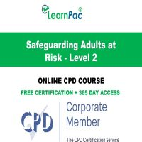 Safeguarding Adults at Risk - Level 2 - Online CPD Course -