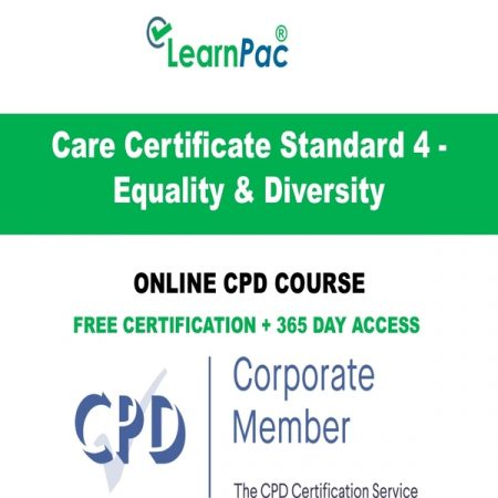 Care Certificate Standard 4 - Equality & Diversity - Online CPD Course LearnPac Online Training Courses UK -