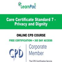 Care Certificate Standard 7 - Privacy and Dignity - Online CPD Course -