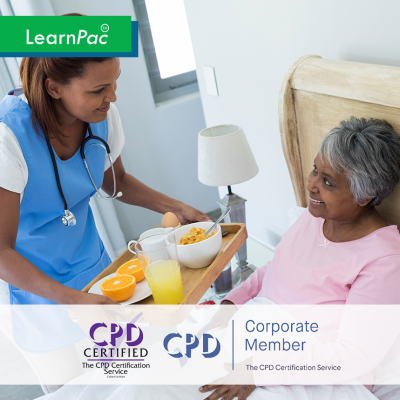 Care Certificate Standard 8 – Fluids and Nutrition - Online Training Course - CPD Accredited - LearnPac Systems UK -