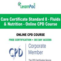 Care Certificate Standard 8 - Fluids & Nutrition Online CPD Course - LearnPac Online Training Courses UK –