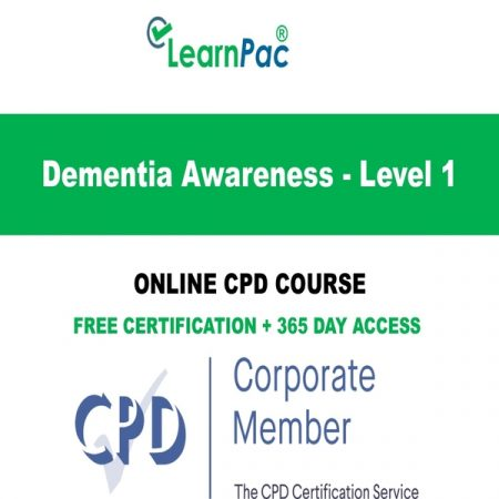 Dementia Awareness - Level 1 - LearnPac Online Training Courses UK -