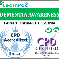 Dementia Awareness Training Course - Level 1 Online CPD Accredited Training Course - Awareness of Dementia Course - Skills for Care Aligned - LearnPac Systems UK -