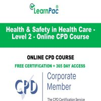 Health & Safety in Health Care - Level 2- LearnPac Online Training Courses UK --