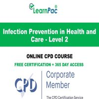 Infection Prevention in Health and Care - Level 2 - Online CPD Course - LearnPac Online Training Courses UK -