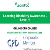 Learning Disability Awareness - Level 1 - LearnPac Online Training Courses UK -