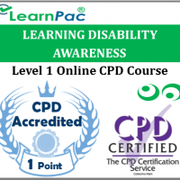 Learning Disability Awareness - Level 1 - Online CPD Accredited Training Course for Health & Social Care Sectors - Skills for Health Aligned E-Learning Course - LearnPac Systems UK -