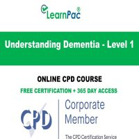 Understanding Dementia - Level 1 - Online CPD Course - LearnPac Online Training Courses UK -