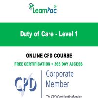 Duty of Care - Level 1 - LearnPac Systems Online Training Courses UK -