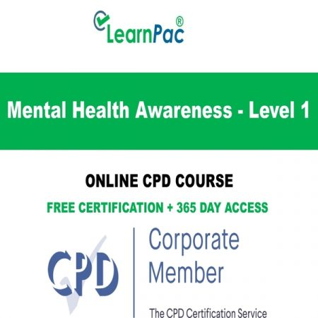 Mental Health Awareness - Level 1 - Online CPD Course -
