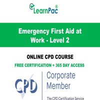 Emergency First Aid at Work - Level 2 - LearnPac Online Training Courses UK -