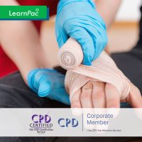 Emergency First Aid at Work - Online Training Course - CPDUK Accredited - LearnPac Systems UK -