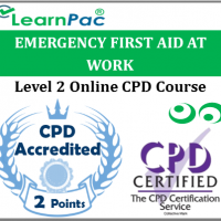 Emergency First Aid at Work Training - Level 2 - Online CPD Course for all Sectors - Health & Safety Executive (HSE) Compliant - Skills for Health Aligned- LearnPac Systems UK -