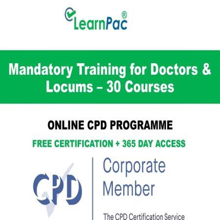 Mandatory Training for Doctors & Locums – 30 Online CPD Courses - LearnPac Online Training Courses UK -