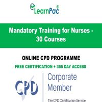 Mandatory Training for Nurses - 30 Online CPD Courses - LearnPac Online Training Courses UK -