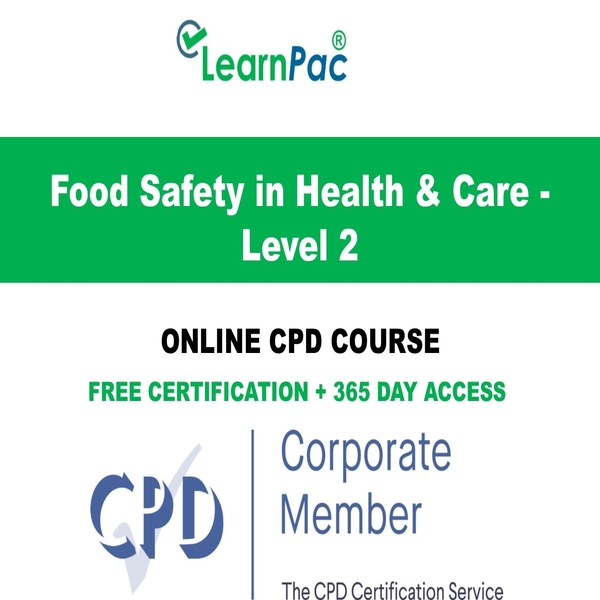 Food Safety Training – Level 2 – Online Course – CPD Accredited