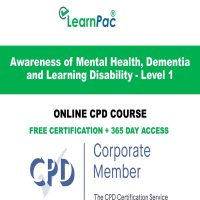 Awareness of Mental Health, Dementia and Learning Disability - Level 1 -