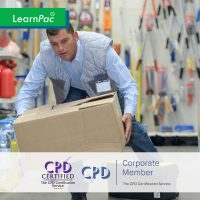 Moving and Handling of Objects - Online Training Course - CPD Accredited - LearnPac Systems UK -