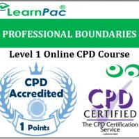 Professional Boundaries in Health & Social Care - Level 1 - Online CPD Accredited Training Course - LearnPac Systems UK -