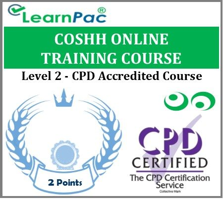 COSHH Online Training Course - Level 2 - CPD Accredited E-Learning Course - LearnPac Systems UK -
