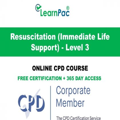Resuscitation (Immediate Life Support) - Level 3 - LearnPac Online Training Courses UK -