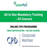 All In One Mandatory Training - 24 CPD Courses - LearnPac Systems Online UK -