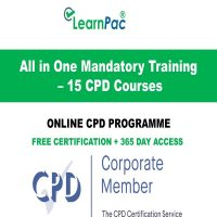 All in One Mandatory Training – 15 CPD Courses - LearnPac Online Training Courses UK -