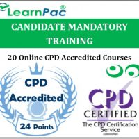 Candidate Mandatory Training – 20 Online CPD Accredited & CQC Aligned Courses -
