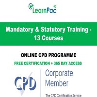 Mandatory & Statutory Training - 13 Online CPD Courses - LearnPac Online Training Courses UK -