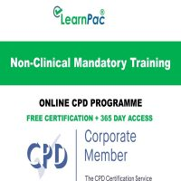 Non-Clinical Mandatory Training - Online CPD Course - LearnPac Online Training Courses UK –
