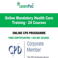 Online Mandatory Health Care Training - 24 Courses - LearnPac Online Training Courses UK -
