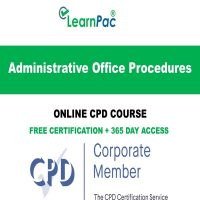 Administrative Office Procedures – Online CPD Course - LearnPac Online Training Courses UK –