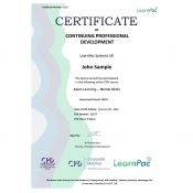 Adult Learning – Mental Skills - Online Training Course - CPD Certified - LearnPac Systems UK -