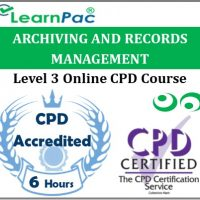 Archiving and Records Management - Online Training & Certification -