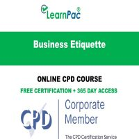 Business Etiquette – Online CPD Course -LearnPac Online Training Courses UK -