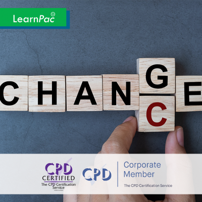 Change Management - Online Training Course - CPD Accredited - LearnPac Systems UK -