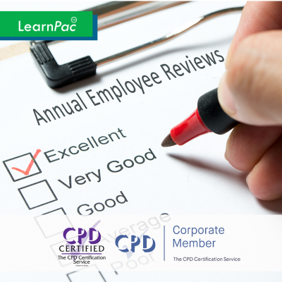 Conducting Annual Employee Reviews - Online Training Course - CPD Accredited - LearnPac Systems UK -