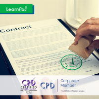 Contract Management - Online Training Course - CPD Accredited - LearnPac Systems UK -