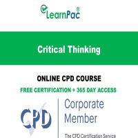 Critical Thinking - Online CPD Course - LearnPac Online Training Courses UK -