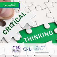 Critical Thinking - Online Training Course - CPD Accredited - LearnPac Systems UK -