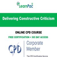 Delivering Constructive Criticism – Online CPD Course - LearnPac Online Training Courses UK -