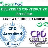 Delivering Constructive Criticism - Online Training & Certification -